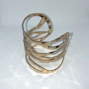 Gold Hammered Bracelet